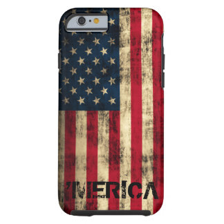 Personalized Vintage Grunge 'Merica Flag Tough iPhone 6 Case