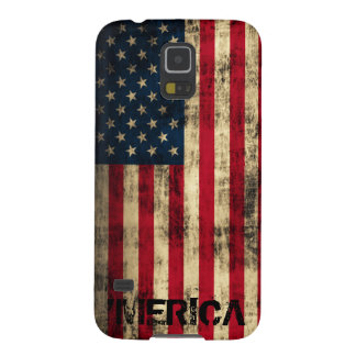 Personalized Vintage Grunge 'Merica Flag Galaxy S5 Cover