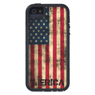 Personalized Vintage Grunge 'Merica Flag Case For iPhone 5