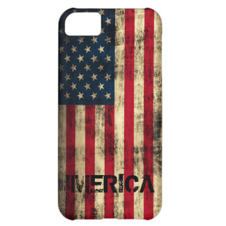 Personalized Vintage Grunge 'Merica Flag Cover For iPhone 5C