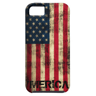 Personalized Vintage Grunge 'Merica Flag iPhone 5 Cover