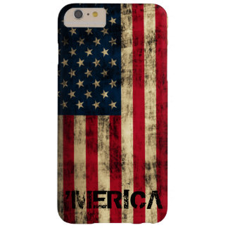 Personalized Vintage Grunge 'Merica Flag Barely There iPhone 6 Plus Case
