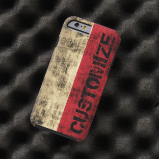 Personalized Vintage Grunge Polish Flag Tough iPhone 6 Case