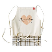 Personalized vintage heart apron for women