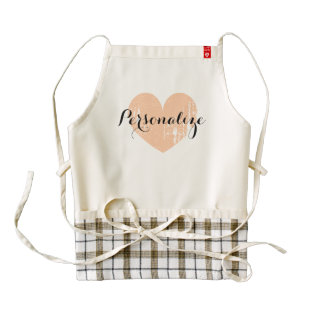 Personalized Vintage Heart Apron For Women at Zazzle
