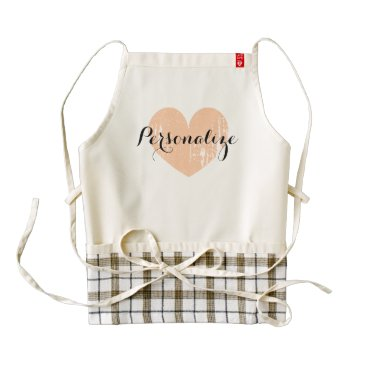 Valentines Themed Personalized vintage heart apron for women
