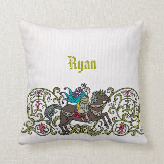 Personalized Vintage Knight Pillows