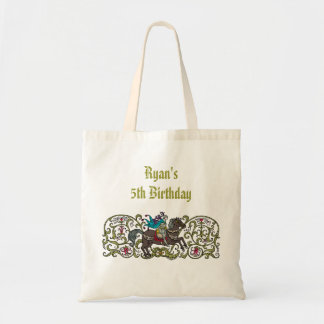 Personalized Vintage Knight Tote Bag