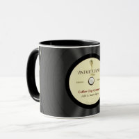 Personalized Vintage Microphone Vinyl Record