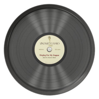 Personalized Vintage Microphone Vinyl Record Plate