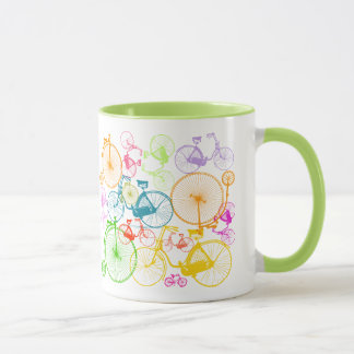 Personalized Vintage Modern Bicycle Neon Pattern Mug