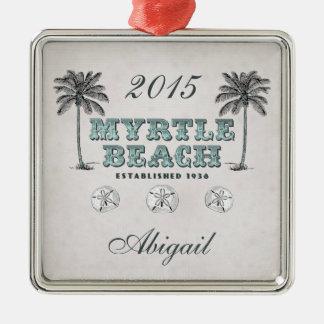 Personalized Vintage Myrtle Beach SC Ornament