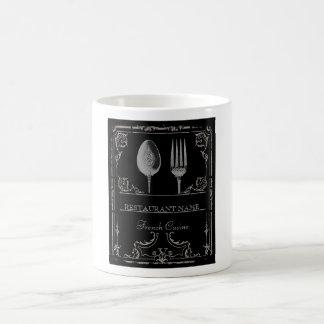 Personalized Vintage Ornate Silverware Restaurant Coffee Mug