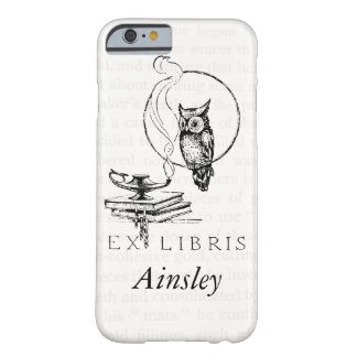 Personalized Vintage Owl Collage Barely There iPhone 6 Case