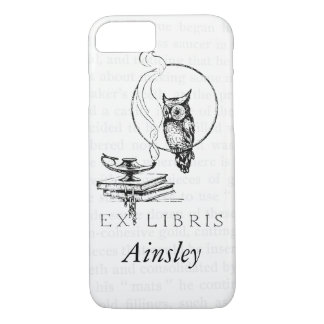 Personalized Vintage Owl Collage iPhone 7 Case