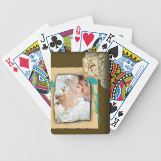 Personalized Vintage Photo Collage Bicycle Playing Cards