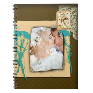 Personalized Vintage Photo Collage Journals