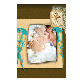 Personalized Vintage Photo Collage Stationery