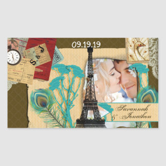 Personalized Vintage Photo Collage Sticker