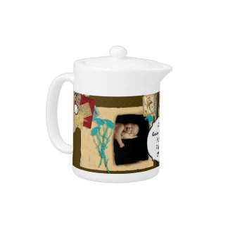 Personalized Vintage Photo Collage Teapot