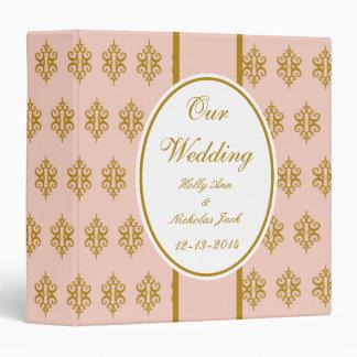 Personalized Vintage Pink Wedding Scrapbook Binder