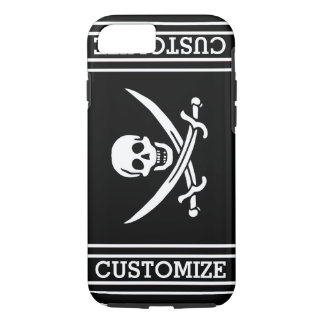 Personalized Vintage Pirate Flag iPhone 8/7 Case