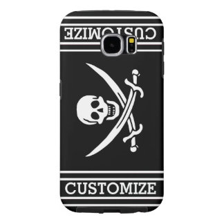 Personalized Vintage Pirate Flag Samsung Galaxy S6 Cases