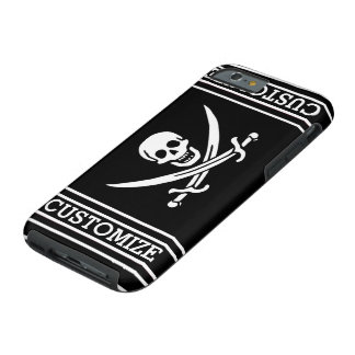 Personalized Vintage Pirate Flag Tough iPhone 6 Case