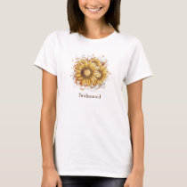 Personalized Vintage Pretty Sunflowers T-Shirt