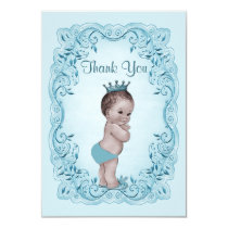 Personalized Vintage Prince Baby Shower Thank You Card