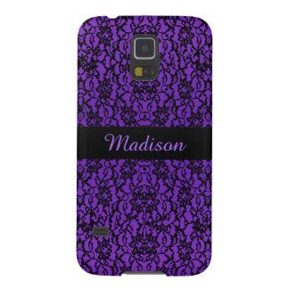 Personalized Vintage Purple Lace  Galaxy S5 Case