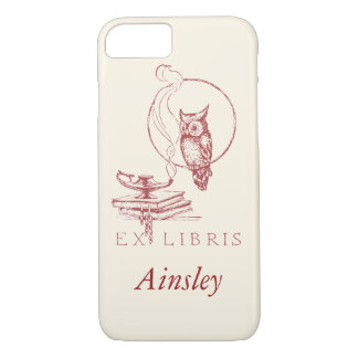 Personalized Vintage Red Owl iPhone 7 Case