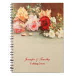 Personalized vintage roses wedding notebook