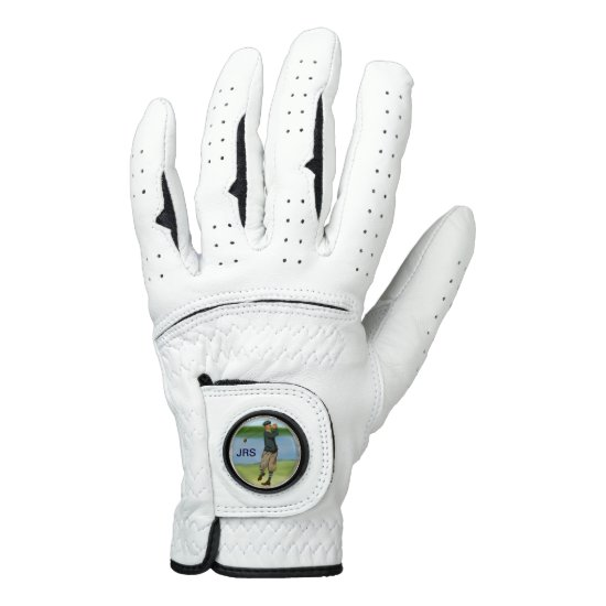 Personalized Vintage style golf scene Golf Glove