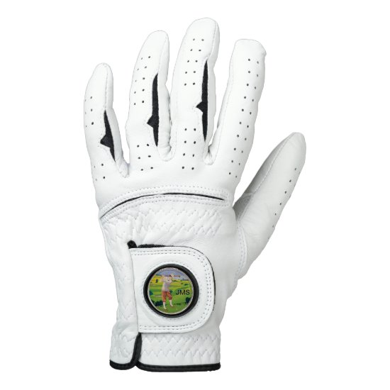 Personalized Vintage Style Highlands Golfing Scene Golf Glove