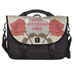 Personalized Vintage style red rose love heart Bag For Laptop