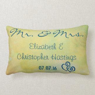 Personalized Vintage Style Wedding Keepsake Lumbar Pillow