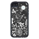 Personalized Vintage Swirly Black White Floral iPhone 5 Cases