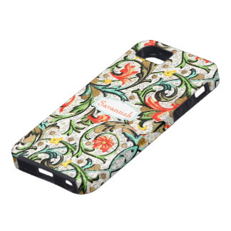 Personalized Vintage Swirly Damask iphone 5 iPhone 5 Cover