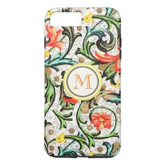 Personalized Vintage Swirly Damask iphone 5 iPhone 7 Plus Case