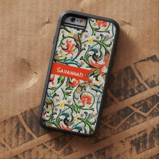 Personalized Vintage Swirly Damask iphone 6 Tough Xtreme iPhone 6 Case