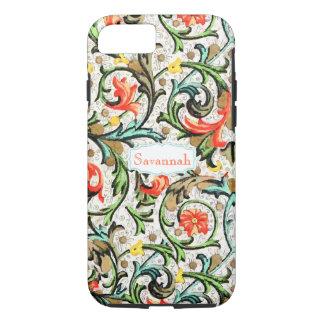 Personalized Vintage Swirly Damask iPhone 8/7 Case