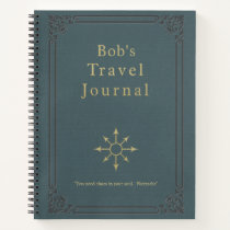 Personalized Vintage Travel Journal