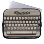 Personalized Vintage Typewriter Computer Sleeve