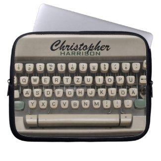 Personalized Vintage Typewriter Electronics Bag electronicsbag