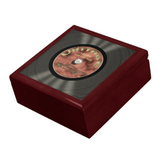 Personalized Vintage Vinyl Record Gift Box
