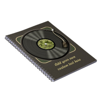 Personalized Vintage Vinyl Record Notebook