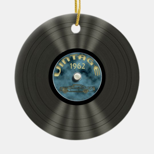 Personalized Vintage Vinyl Record Ornament