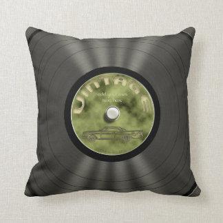 Personalized Vintage Vinyl Record Throw Pillows