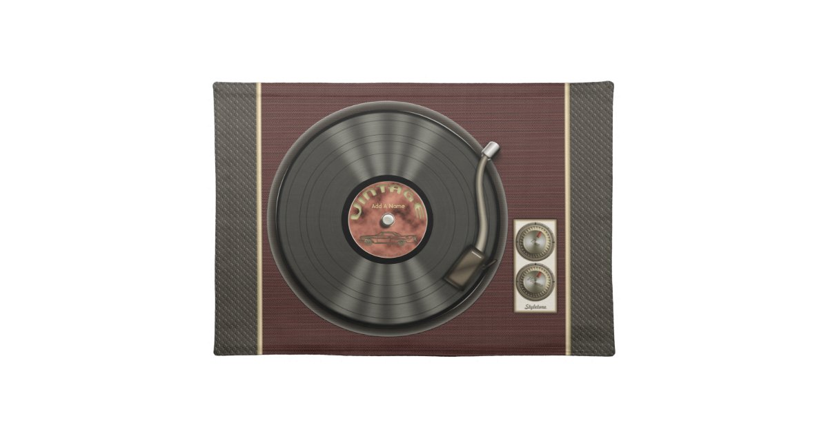 Personalized Vintage Vinyl Record Placemat Zazzle Com